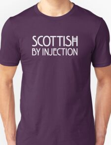 Scottish by Injection (for dark t-shirts) Unisex T-Shirt