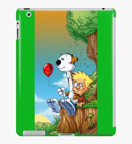 calvin and hobbes ballon iPad Case/Skin