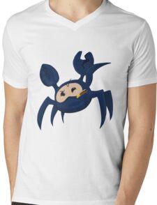 Blu Spycrab Mens V-Neck T-Shirt