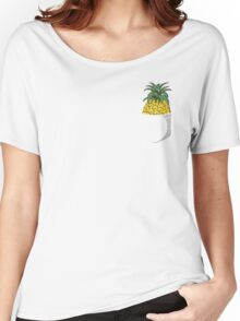 Pocket Pineapple Women's Relaxed Fit T-Shirt