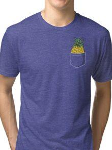 Pocket Pineapple Tri-blend T-Shirt