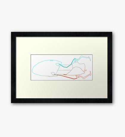 Science Lines Framed Print