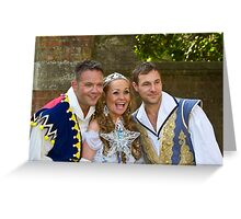 Jamie Rickers, Pop idol Sonia and Marc Baylis in Sleeping Beauty Greeting Card