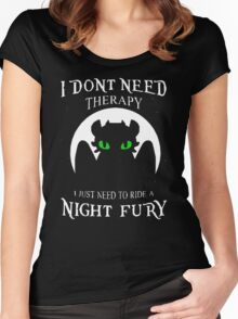 I need to ride a Night Fury Women's Fitted Scoop T-Shirt