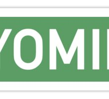 Wyoming G Sticker