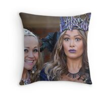Pop Idol Sonia and Zoe Birkett in Sleeping Beauty Throw Pillow