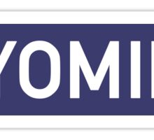 Wyoming B Sticker