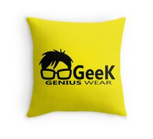 Geek Genius Wear - Man Woman Geek - Programmer Throw Pillow