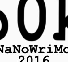 60k NaNoWriMo Celebration Sticker