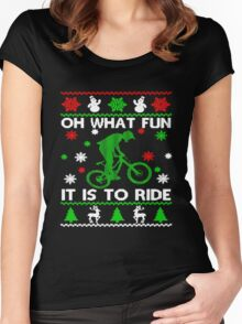 Bicycle Oh What Fun It Is To Ride Women's Fitted Scoop T-Shirt