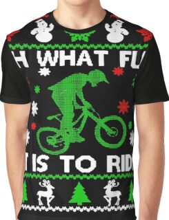 Bicycle Oh What Fun It Is To Ride Graphic T-Shirt