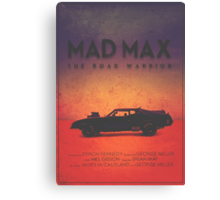 The Last of the V8's | Modern Mad Max Poster Canvas Print