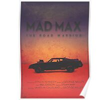 The Last of the V8's | Modern Mad Max Poster Poster