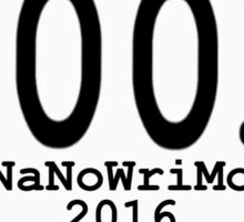 100k NaNoWriMo Celebration Sticker