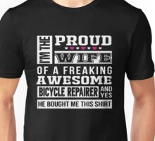 Bicycle Proud Wife Of A Freaking Awesome Wife Unisex T-Shirt