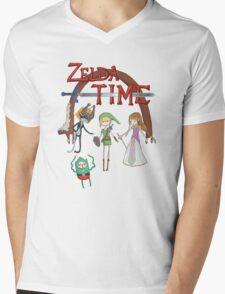 Zelda Time Mens V-Neck T-Shirt