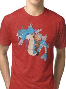Gyarados pokemon Tri-blend T-Shirt