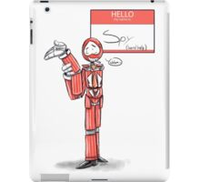 Hello my name is Spy iPad Case/Skin