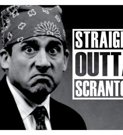 Prison Mike Straight Outta Scranton Sticker