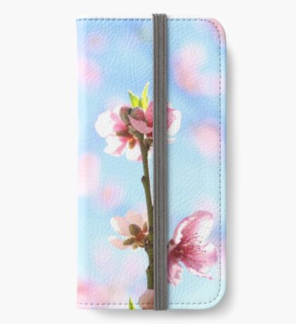 flowering pink peach blossoms iPhone Wallet/Case/Skin