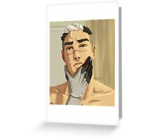 Shiro getting ready for the day 1 Greeting Card