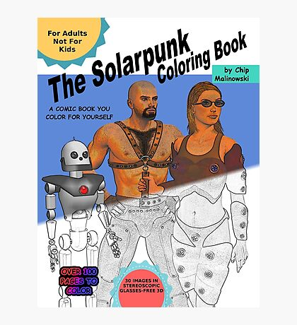 SolarPunk Coloring Book - Front Cover Photographic Print