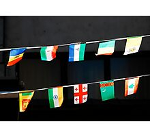 Strings of National Flags Photographic Print