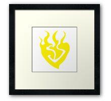 burning heart (Yang Xiao Long) Framed Print