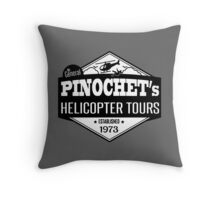 Pinochet's Helicopter Tours Throw Pillow