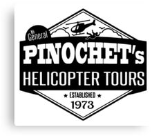 Pinochet's Helicopter Tours Canvas Print