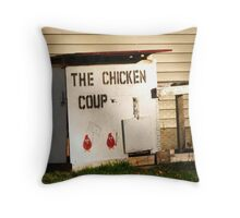 Chicken Coup ~ Fowl Revolution in Hamburg, NY Throw Pillow