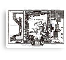 Sherlock Floorplan Canvas Print