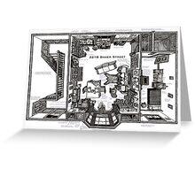 Sherlock Floorplan Greeting Card