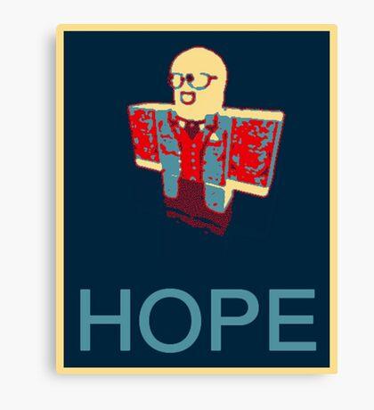 Tapwater's Hope Parody Slogan Canvas Print