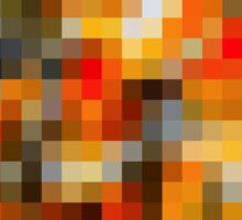 red orange black and white pixel abstract background Sticker