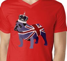 English Bulldog Mens V-Neck T-Shirt