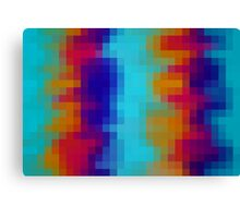 red orange blue green pixel abstract background Canvas Print
