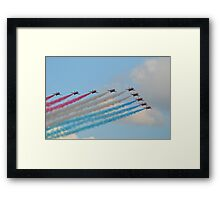 Red, White and Blue Arrows Framed Print