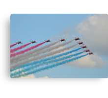 Red, White and Blue Arrows Canvas Print