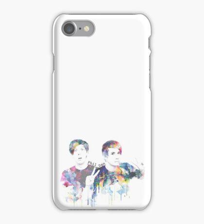 Watercolour Dan & Phil - YouTubers iPhone Case/Skin
