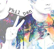 Watercolour Dan & Phil - YouTubers Sticker
