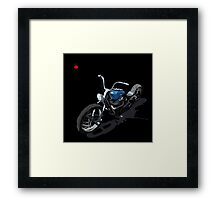 Blue Chopper on Black Framed Print