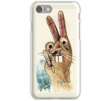 Hand bunny iPhone Case/Skin