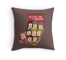 Life is like a box of chocolate Throw Pillow