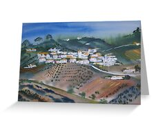 spanish village  Greeting Card