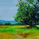 Feel The Heat - Devon Landscape Painting by MikeJory