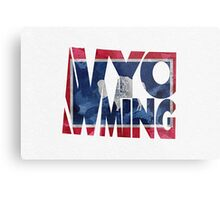 Wyoming Typographic Map Flag Metal Print