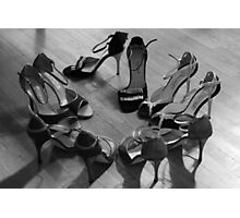 Comme il faut, tango dancing shoes, b & w Photographic Print