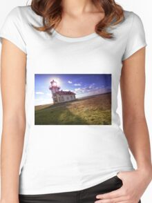 Point Cabrillo Lighthouse Women's Fitted Scoop T-Shirt