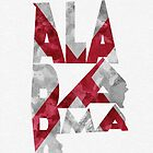 Alabama Typographic Map Flag by A. TW